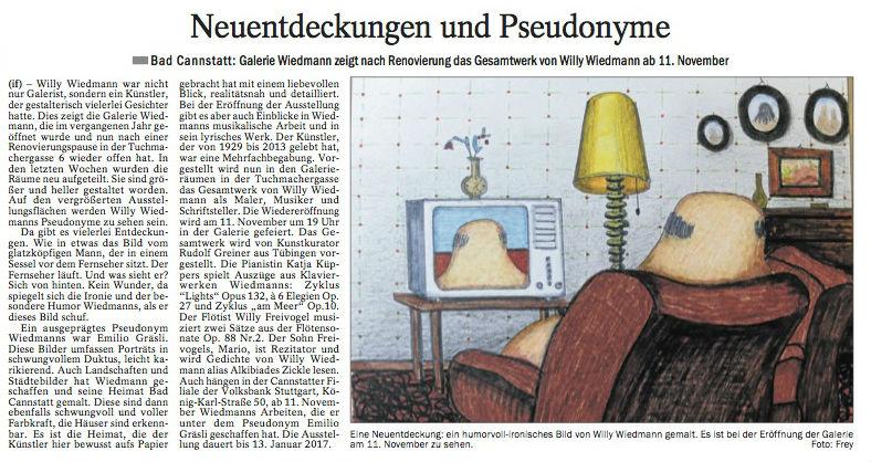 Quelle: Cannstatter Untertürkheimer Zeitung - 09.11.16