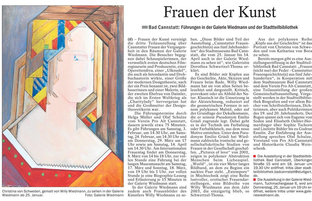 Quelle: Cannstatter/Untertürkheimer Zeitung 17.01.2018
