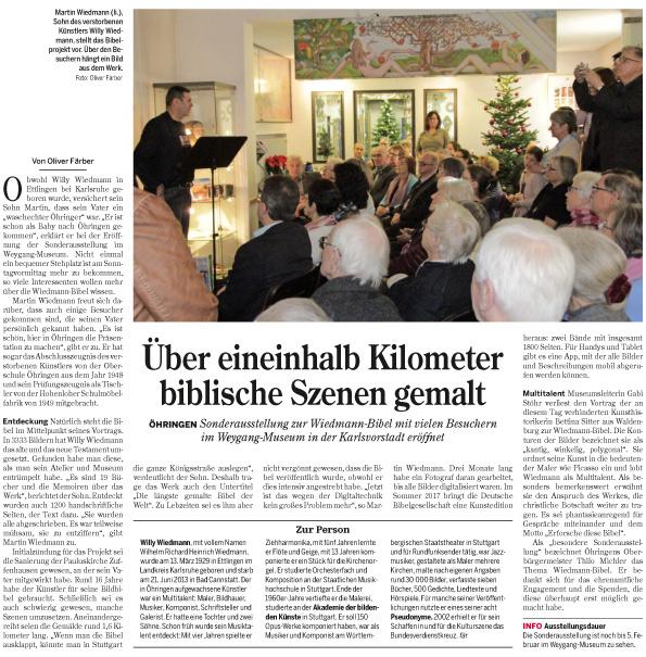 Quelle: Heilbrönner Stimme - HZ Öhringen - Rund um Öhringen 26. 30 November 2016