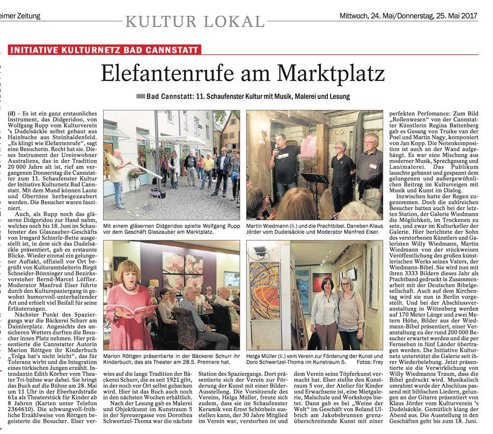 Quelle: Cannstatter/Untertürkheimer Zeitung. 24.05.2017