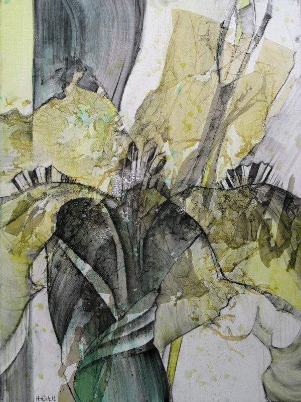 Ute-Hadam-Abstrakt-Fleur-jaune