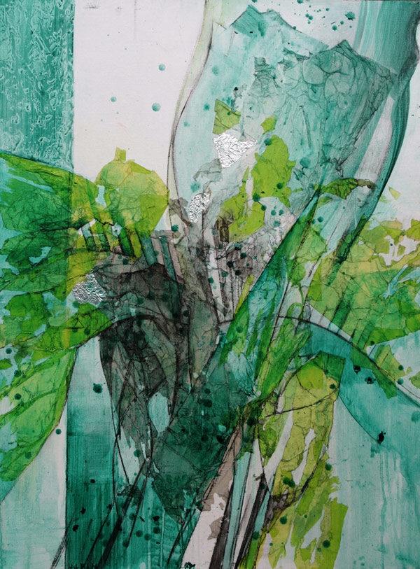 Ute-Hadam-Abstrakt-Fleur-verte
