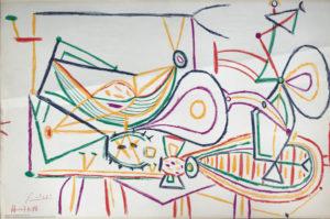 Picasso-Zeichnung-bunt-2-Flugzeuge