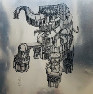 Rauch-Gebaudeelefant